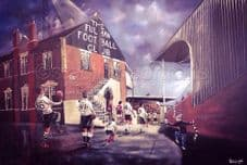 Fulham 'Rolling Back The Years' box canvas 30'' x 20''