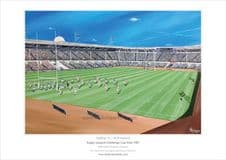 Halifax v St Helens Rugby League Challenge Cup Final 1987 at Wembley  A3 unframed Print