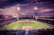 Holte Enders in The Sky, Villa Park, Aston Villa   - 20'' x 30'' approx poster print