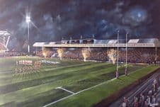 Leeds Rhinos South Stand  20'' x 30'' approx poster print