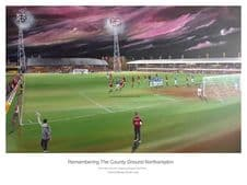 Northampton Town - Remembering The County Ground A3 Unframed print