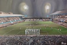 West Ham  v Newcastle 20'' x 30'' approx poster print