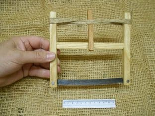 """6"""" 150mm bucksaw in ash with distressed modern blade"""
