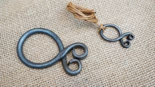 """forged steel troll cross in two sizes 3"""" or 1"""" necklace option"""
