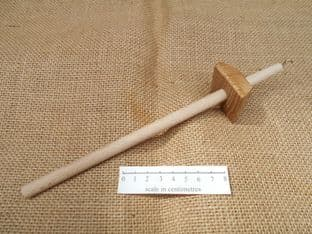 late to post medieval wooden drop spinning spindle square pyramid whorl nottingham find