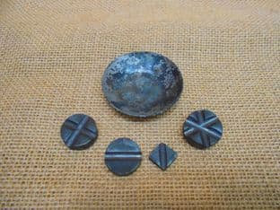 multi period iron scale weights roman to medieval