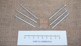 set of 6 hardened steel micro punch stamps for use on non ferrous metals