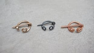set of four 12mm diameter penannular brooches in bronze copper or steel canterbury find