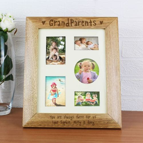 Personalised 10x8 Grandparents Wooden Frame