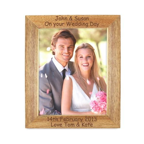 Personalised 5x7 Wooden Photoframe