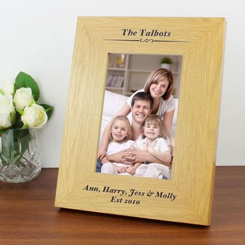 Personalised 6x4 Happy Valentines Day Wooden Frame