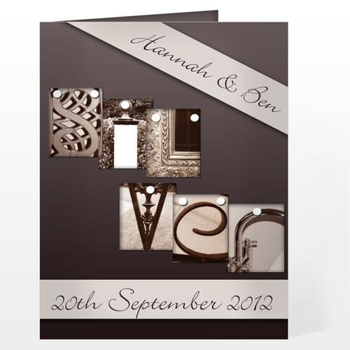 Personalised Affection Art Silver Card