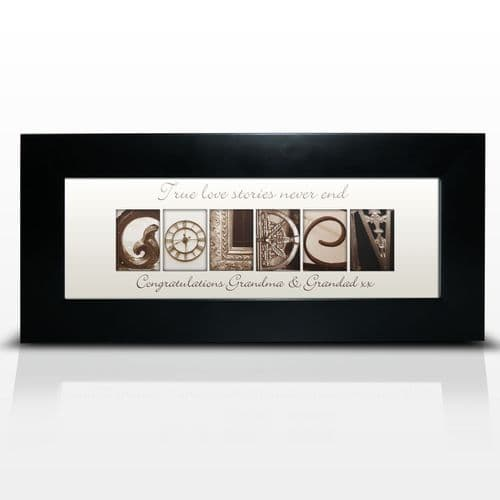 Personalised Art Golden Small Frame