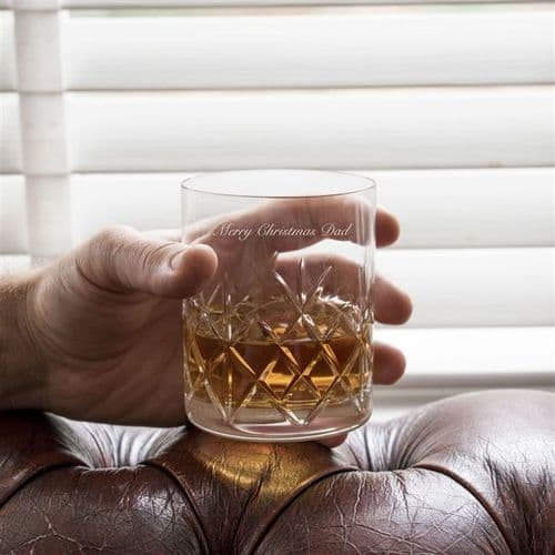 Personalised Crystal Cut Whisky Glass Set