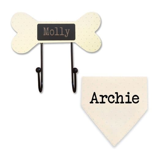Personalised Dog Lead Hooks & Neckerchiefs