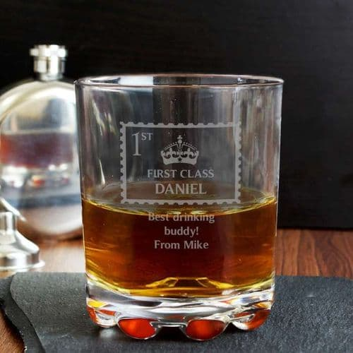 Personalised First Class Whisky Glass