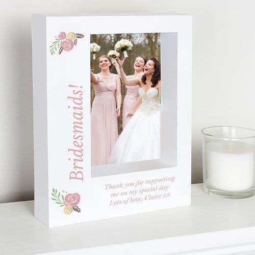 Personalised Floral Bouquet 5x7 Box Photo Frame