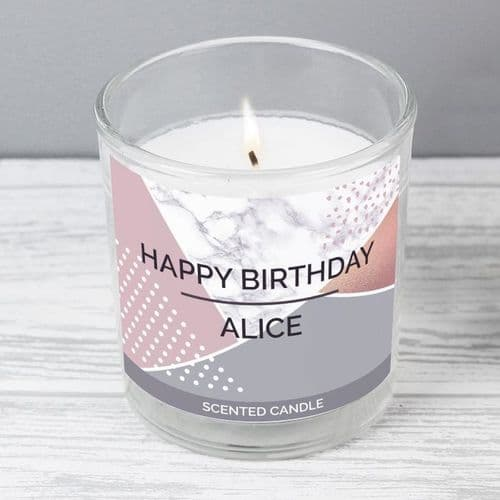 Personalised Geometric Scented Jar Candle