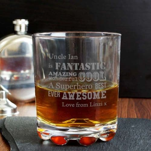 Personalised He Is Whisky Glass