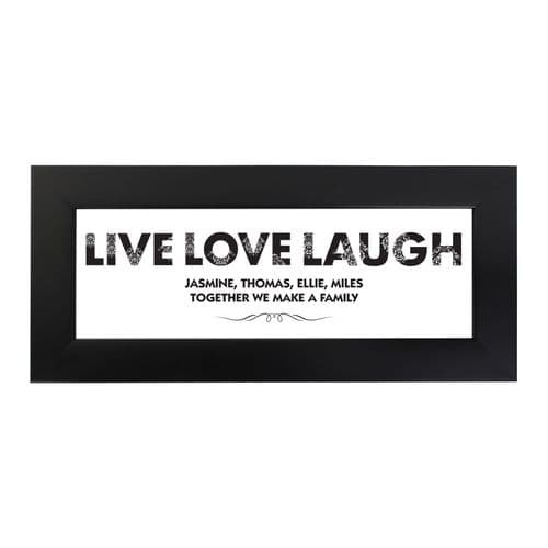 Personalised Live Love Laugh Name Frame