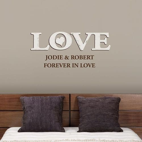 Personalised Love Wall Decal Art