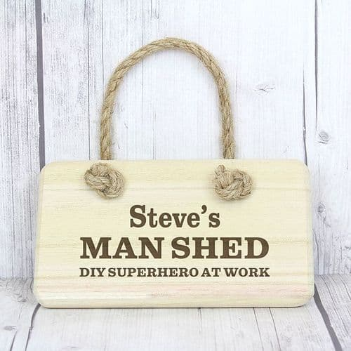 Personalised Man Shed Wooden Sign