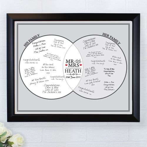 Personalised Mr & Mrs Framed Guest Book