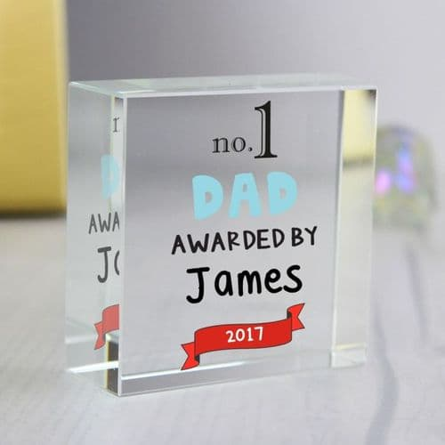 Personalised no.1 Awarded By Medium Crystal Token