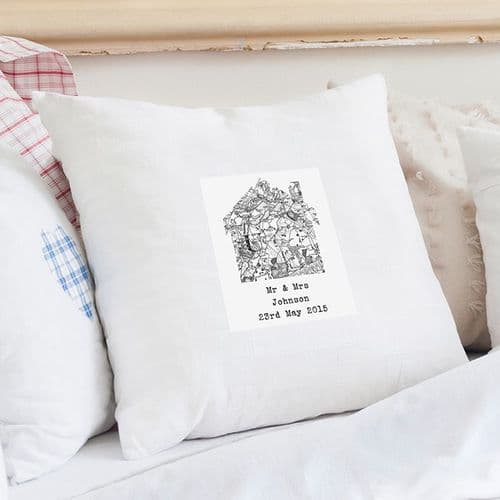 Personalised Old Series Map Home Cushion Cover