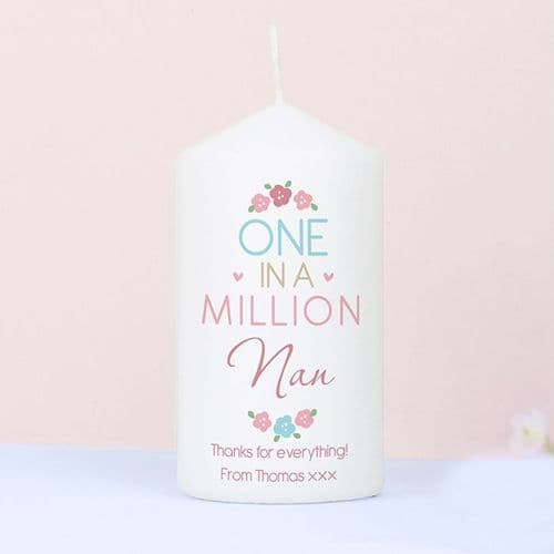 Personalised One in a Million Candle