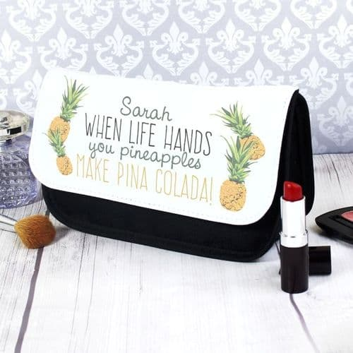 Personalised Pineapple Make Up Bag
