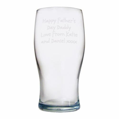 Personalised Pint Lager Glass