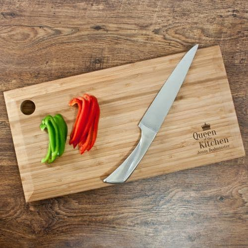 Personalised Queen of the Kitchen Chopping Board