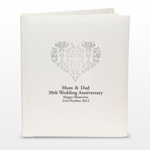 Personalised Silver Damask Traditional Album