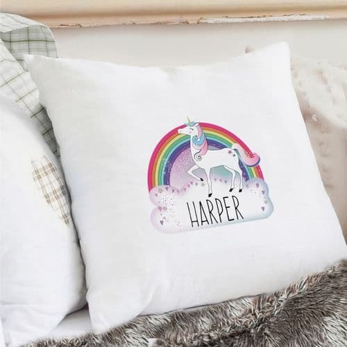 Personalised Unicorn Cream Cushion