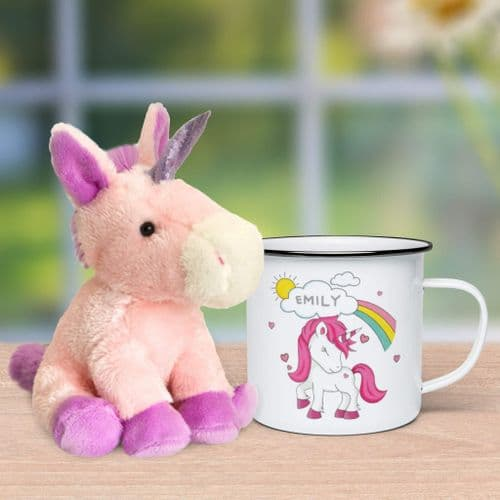 Personalised Unicorn Mug & Plush Toy Set