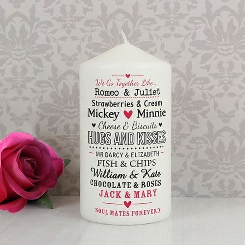 Personalised We Go Together Like Candle