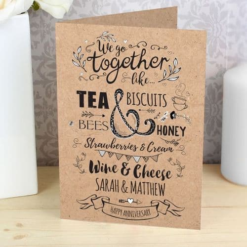 Personalised We Got Together Like... Card