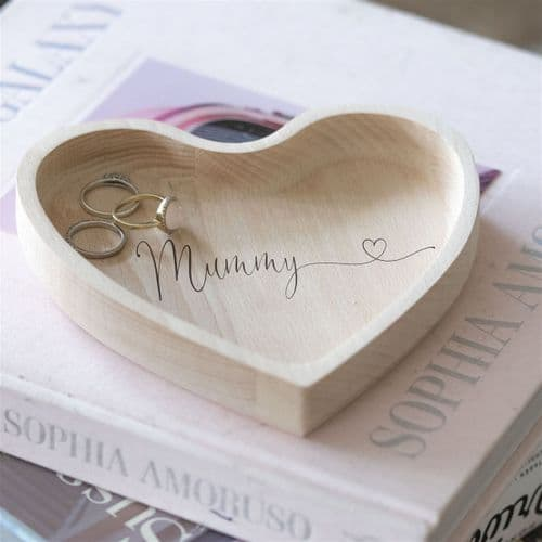 Personalised Wooden Mummy Ring Dish