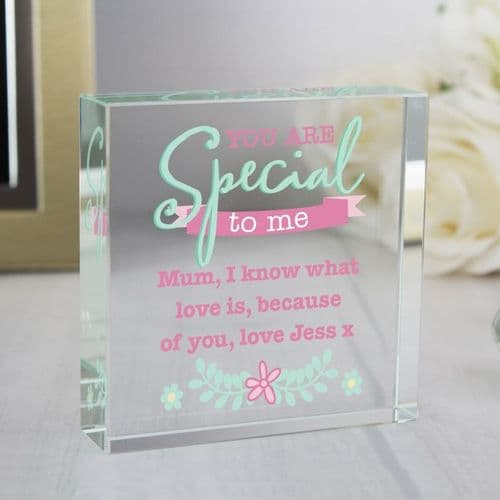 Personalised 'You Are Special' Large Crystal Token