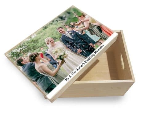 Pesonalised Fathers Day Photo Memory Box