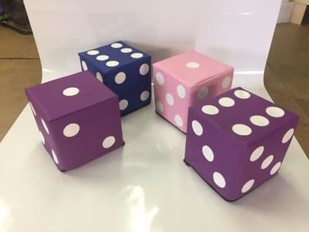 4 Dice any colour 12 inch x 12 inch applique dots