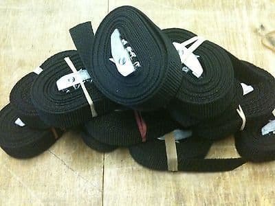 6 x Cam Strap 4 meters x 1inch Black Bouncy castle strap