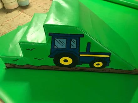 FARM Tractor Soft Play Step & Slide  120cm x 45cm x 45.cm