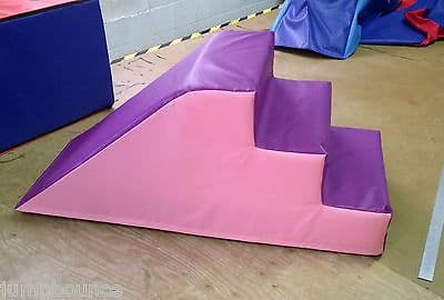 Light Pink / Purple  Soft Play Step & Slide  ideal soft play 120cm x 45cm x 45c