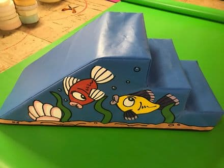 SEA LIFE Soft Play Step & Slide  120cm x 45cm x 45.cm
