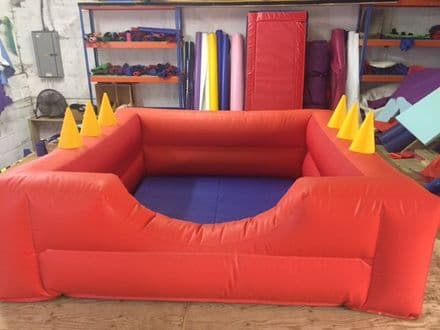 SOFT PLAY BALL POND  INFLATABLE With Air Jugglers  8ft x 8 ft Any Colours