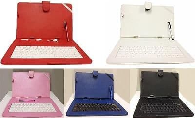 "10.1""Inch PU Leather Case Cover Micro USB Keyboard Stylus for Android Tablet"
