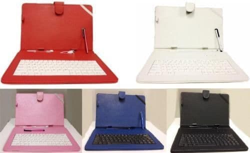 """10.1""""Inch PU Leather Case Cover Micro USB Keyboard Stylus for Android Tablet"""