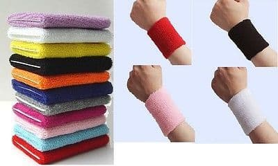 2 x Sports Wrist Sweatbands Tennis Squash Badminton GYM Wristband UNISEX